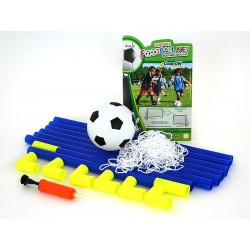 Soccer goal with ball and pump